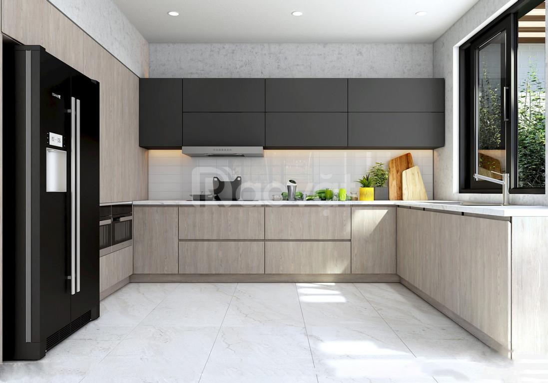 Tủ bếp nhựa Laminate - tủ bếp gỗ công nghiệp laminate