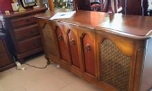 Tủ đài , radio tủ có mâm đĩa than thập niên 60
