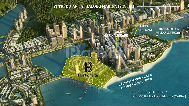 Shophouse mặt vịnh Harbor Bay Hạ Long, Quảng Ninh giá từ 6 tỷ/lô