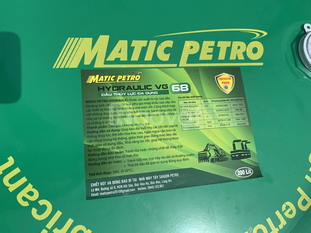 Dầu nhớt thủy lực Matic Petro Hydraulic VG 32 46 68