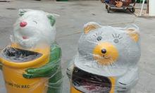 Thùng rác hình thú chuột túi,thùng rác nhựa hình thú,thùng rác cá heo