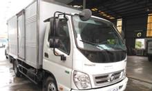 Bán xe tải thaco ollin thùng kín bửng nâng tải trọng 3.5 tấn