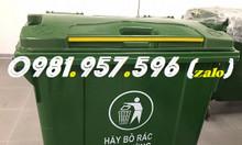Xe rác 660l, xe đẩy rác công nghiệp, thùng rác bánh xe