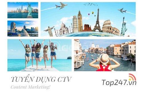 Top247 - Tuyển dụng Content Marketing viết bài Du Lịch