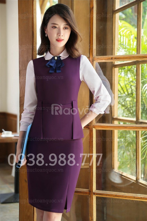 Xưởng may áo gile nữ đồng phục theo yêu cầu, nhiều mẫu mã độc quyền