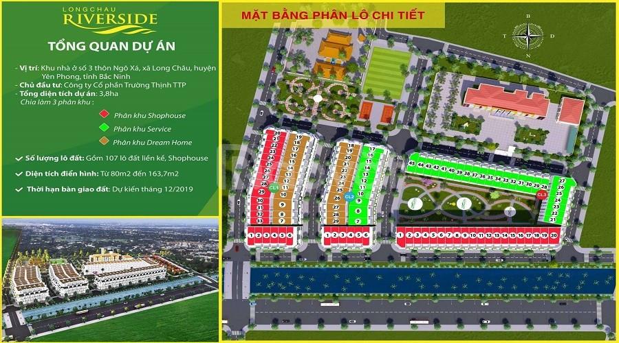 Bán lô đất mặt tiền đẹp Long Châu Riverside Bắc Ninh