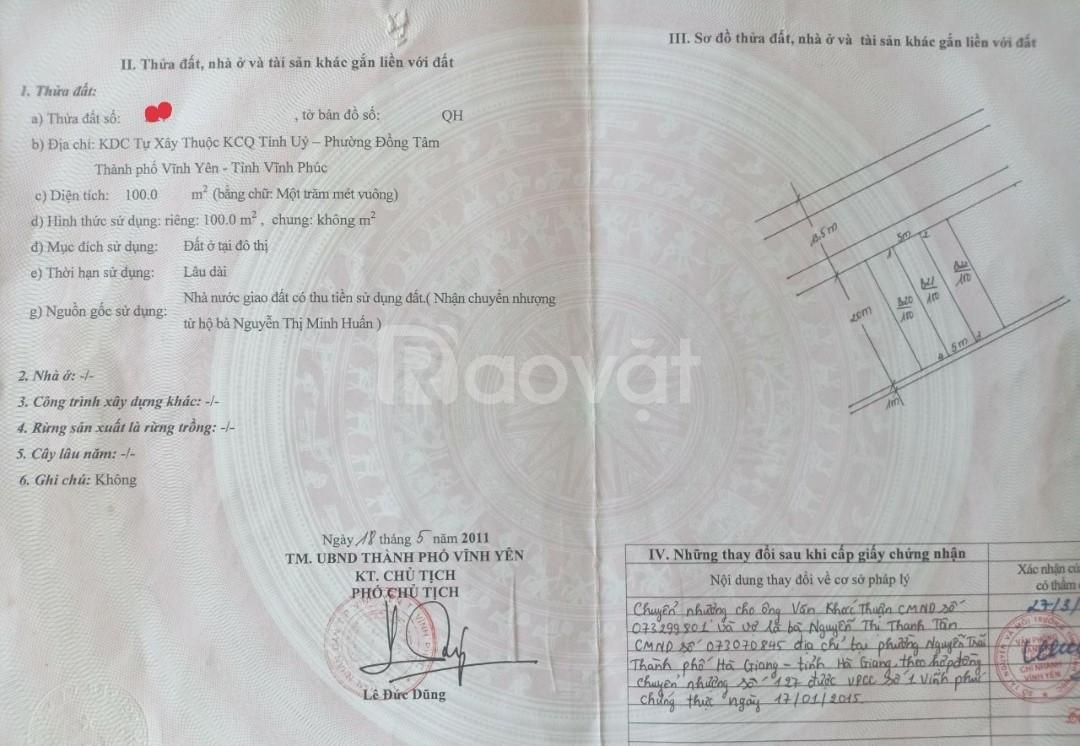 Cần thanh khoản nhanh lô đất tại khu dân cư tỉnh ủy (ảnh 1)