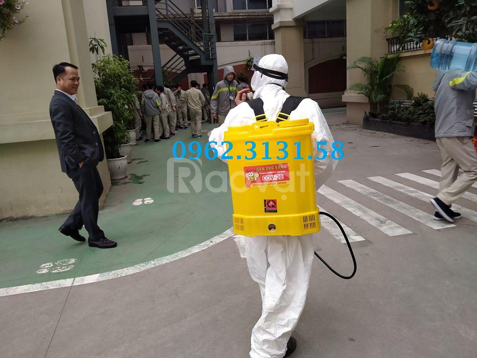 Bình phun thuốc khử khuẩn Con ong vàng 16l đeo lưng chạy điện giá rẻ