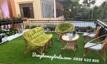 Bàn ghế sofa mây tre đan, bàn ghế mây tự nhiên