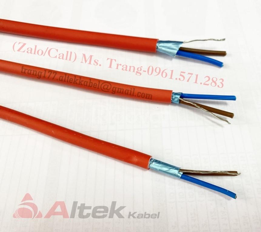 Cáp chống cháy chống nhiễu 2x1.0mm2 + E
