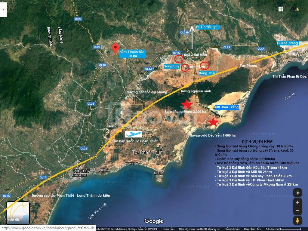 Đất Bình Thuận giá rẻ chỉ 65ngàn/m2 có sổ đỏ từng lô cách ql 1a 2km.