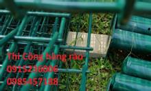 Lưới thép hàng rào phi 4 ô 50x150, ô 100x100 mạ kẽm sơn tĩnh điện
