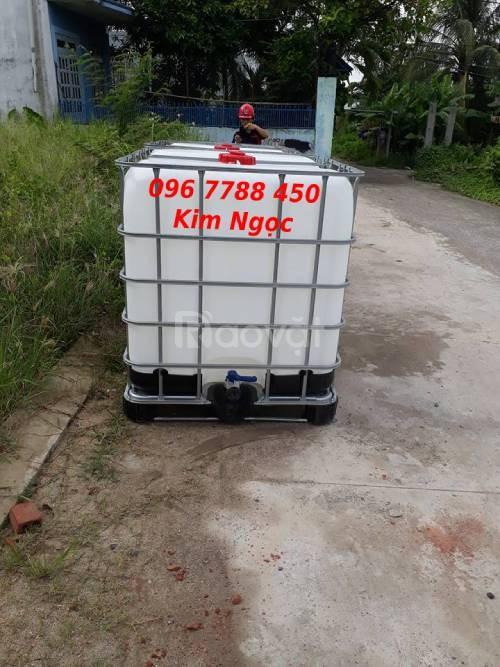 Tank nhựa 1000 lít đựng chất lỏng giá sỉ