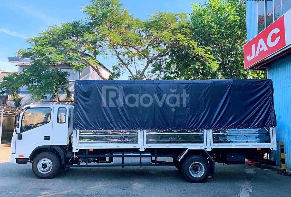 Xe tải jac 6t5 thùng 6m2-hỗ trợ trả góp 70%-xe mới hồ sơ có sẵn