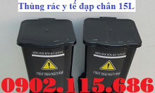 Thùng rác y tế đạp chân, thùng đựng rác thải nguy hại,