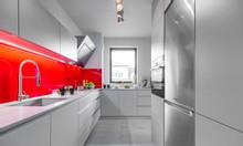 Tủ bếp gỗ mdf phủ melamine An Cường - báo giá thi công tủ bếp