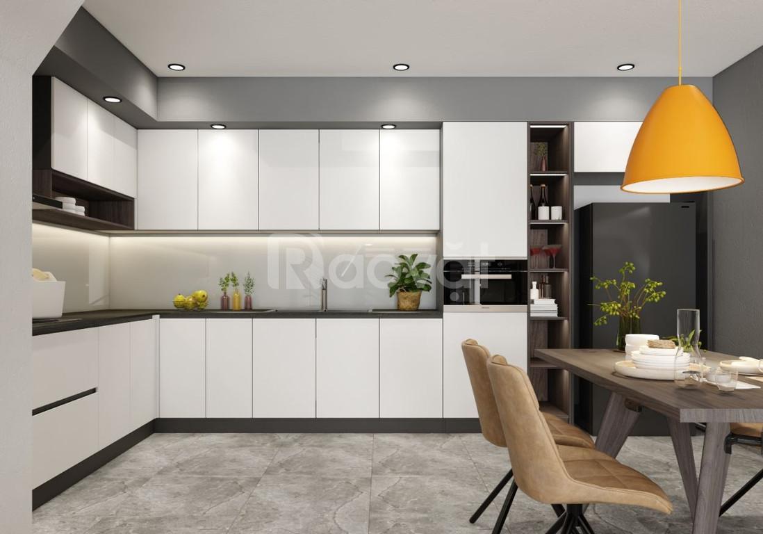 Tủ bếp laminate giá rẻ - đóng tủ bếp giá rẻ Thủ Đức