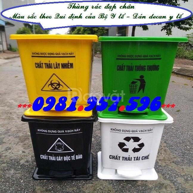 Thùng rác y tế 20l, thùng rác y tế 25l, thùng rác y tế 30l