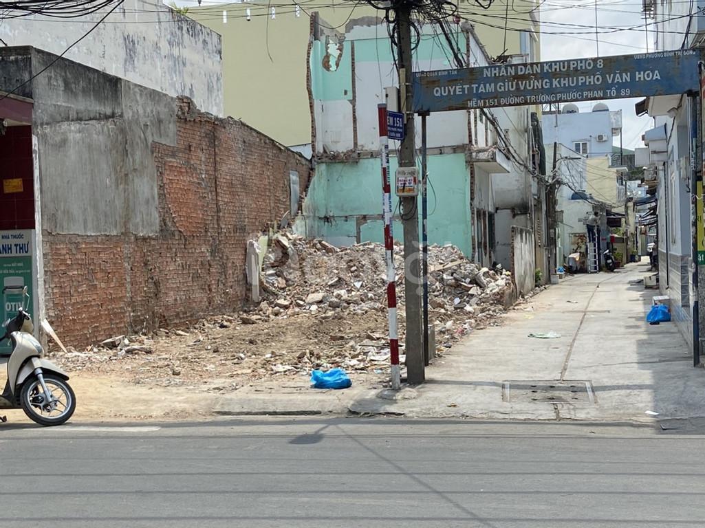 Đất mặt tiền đường Trương Phước Phan đối diện chợ Bình Trị Đông