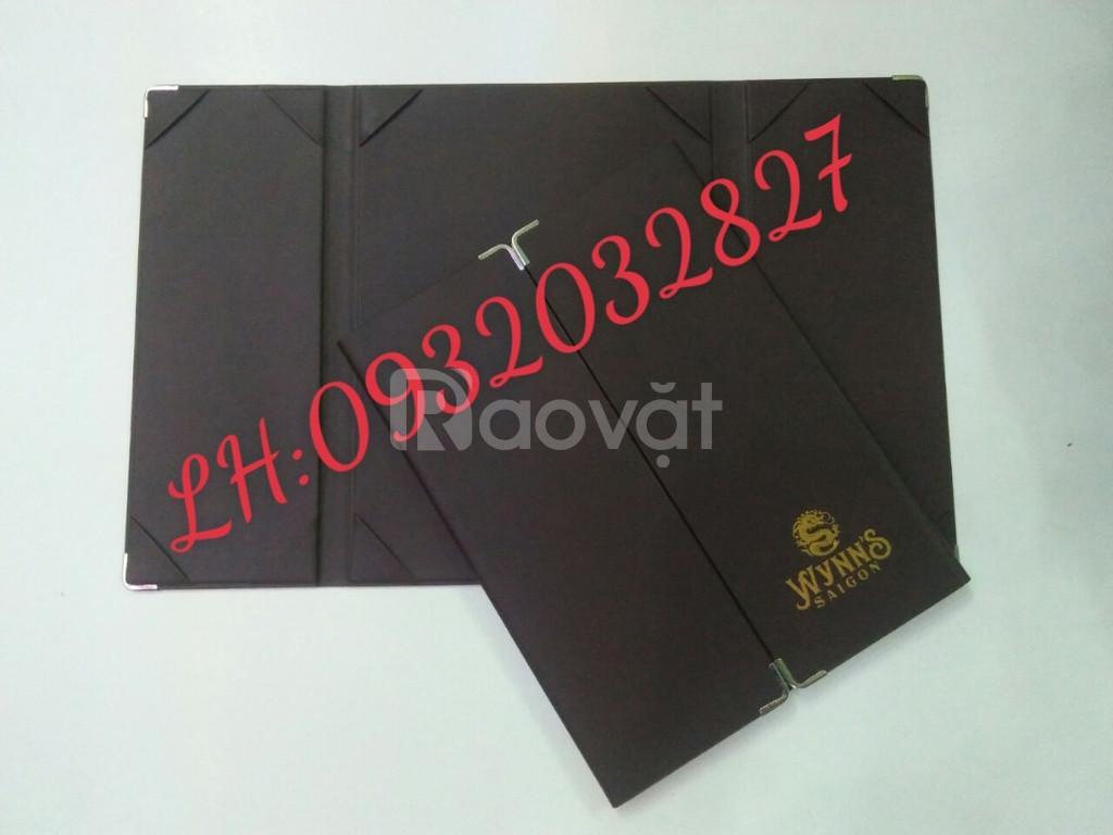 Xưởng sản xuất bìa menu, quyển thực đơn bằng da, quyển menu da