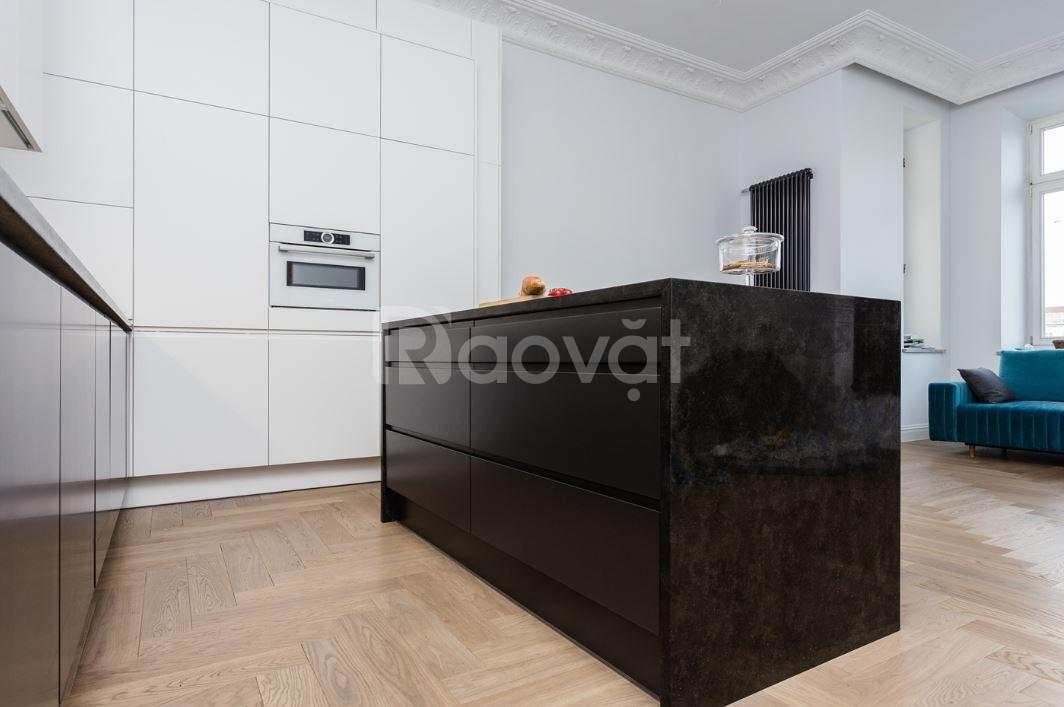 Tủ bếp công nghiệp đẹp - báo giá tủ bếp gỗ công nghiệp TP HCM