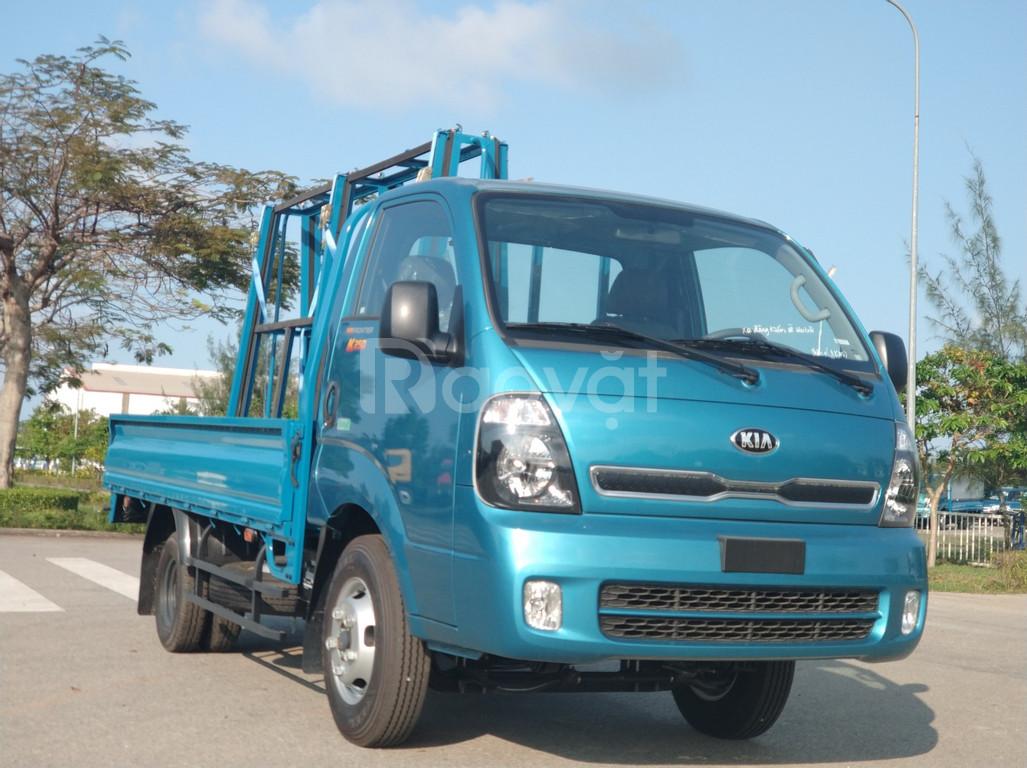 Xe tải kia k250 2.49 tấn thùng giá chữ A, xe tải kia giá chở kính