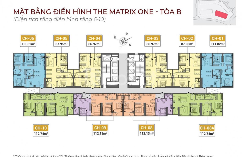 The Matrix One 10 căn ngoại giao giá 46tr/m2 hỗ trợ vay 0%