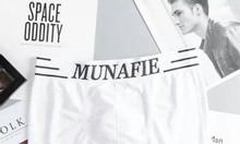 Bộ 4 quần lót nam boxer Munafie hàng dệt kim cao cấp