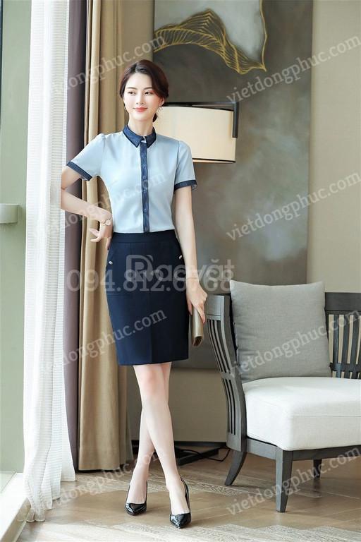 Nhận may chân váy công sở chuyên nghiệp, uy tín