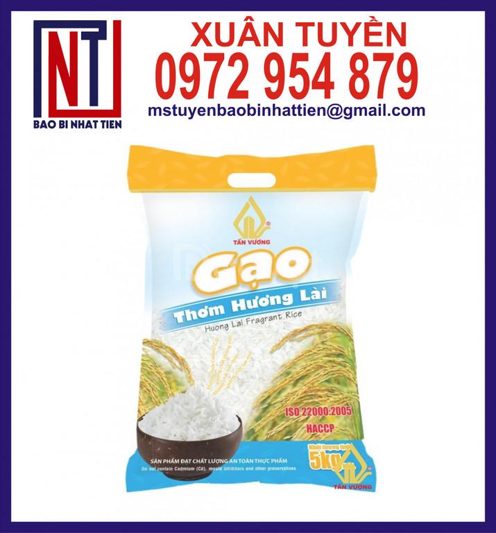 Túi đựng gạo 2kg, in bao bì đựng gạo giá cạnh tranh
