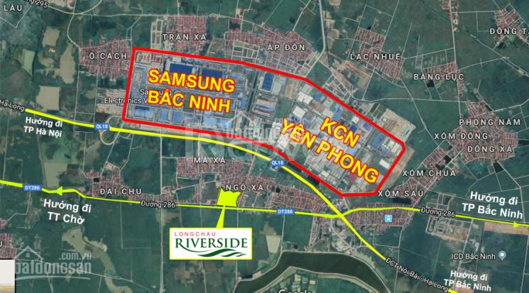 Bán gấp lô đất nền Yên Phong Bắc Ninh, ngay mặt đường tỉnh lộ 286