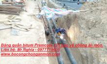 Sơn bitum + băng quấn bảo vệ chống ăn mòn cho đường ống kim loại