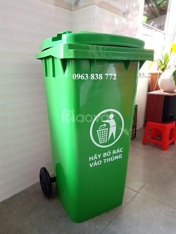 Thùng rác công cộng 120 lít dùng ngoài trời