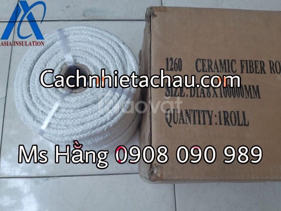 Dây Ceramic, dây chịu nhiệt, dây tết chèn 1260 độ C