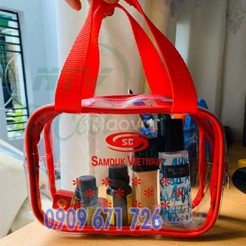 Xưởng ép túi nhựa dẻo trong suốt, đặt may túi nhựa dẻo zipper pvc (ảnh 6)