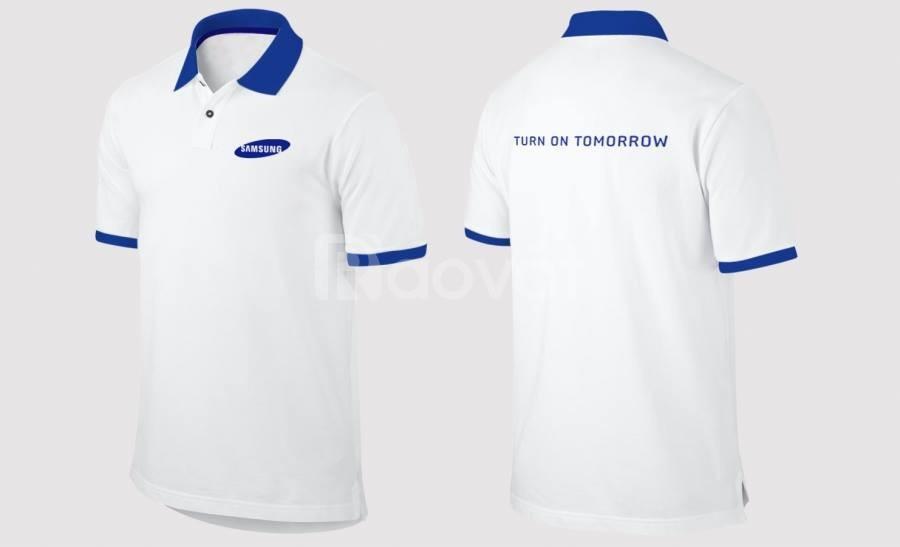Ổ cắt may áo thun đồng phục công ty số lượng lớn