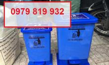 Bán thùng rác y tế đạp chân y tế màu vàng 20 lít
