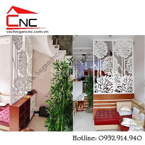 Kết nối nội thất với vách ngăn trang trí phòng khách (ảnh 4)