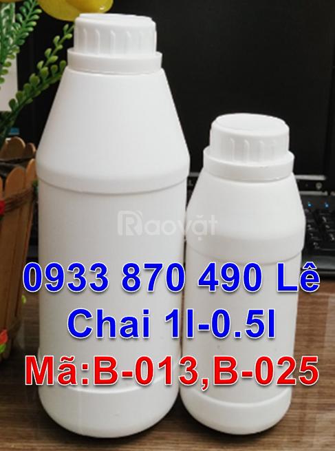 Nơi sản xuất chai nhựa hóa chất HDPE, chai 1 lít đựng thuốc sâu