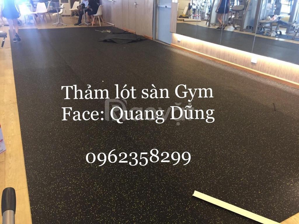 Thảm cao su phòng gym giá tại kho