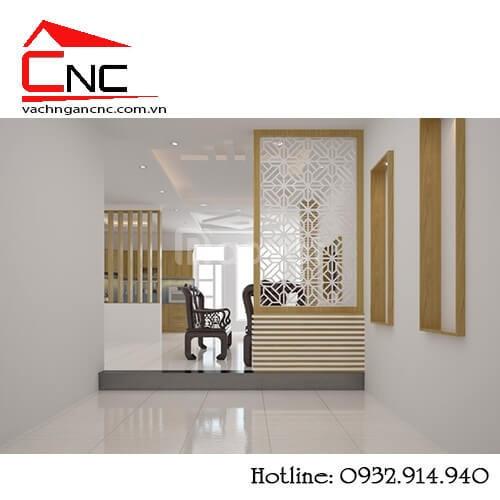 Kết nối nội thất với vách ngăn trang trí phòng khách (ảnh 7)