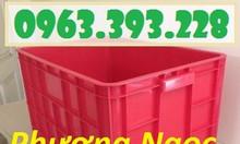 Thùng nhựa đặc cao 39, Thùng nhựa đặc HS026, hộp nhựa có nắp
