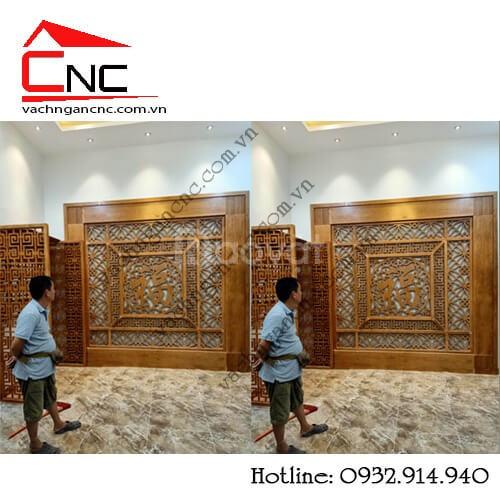 Kết nối nội thất với vách ngăn trang trí phòng khách (ảnh 1)