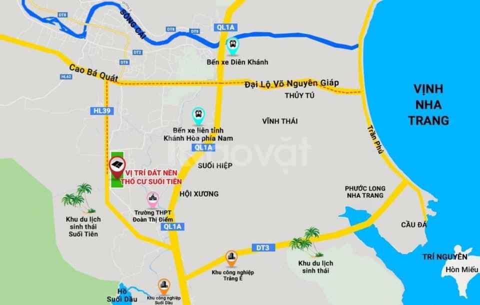 Bán đất thổ cư Suối Tiên Diên Khánh Khánh Hòa giá rẻ, cách Hương Lộ 39