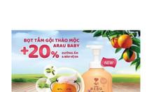 Sữa tắm dưỡng ẩm Arau Baby dạng chai 450ml