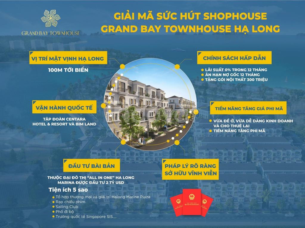 Shophouse mặt biển Hạ Long 61tr/m2, HTLS 0%, sở hữu lâu dài