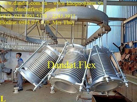 Ống giản nở nhiệt inox dùng cho khí, hơi nóng - khớp co giãn (ảnh 2)