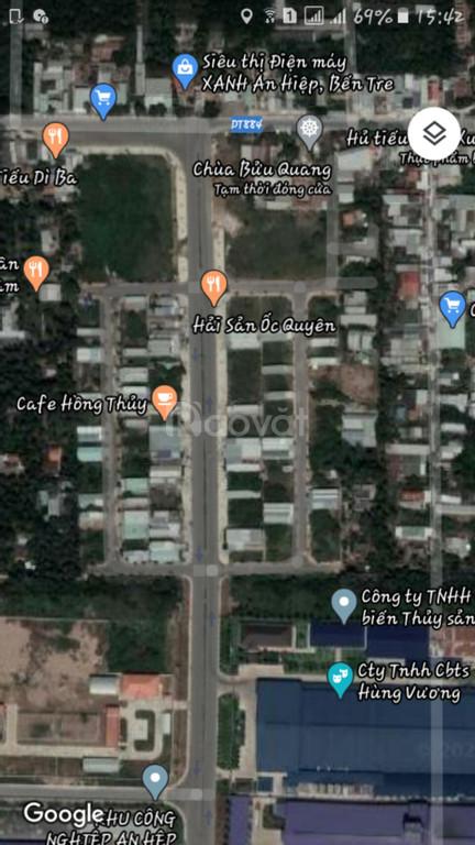 Bán đất mặt tiền đường vô KCN An Hiệp, Châu Thành, Bến Tre.