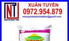Bao PP dệt trắng in flexo đựng gạo