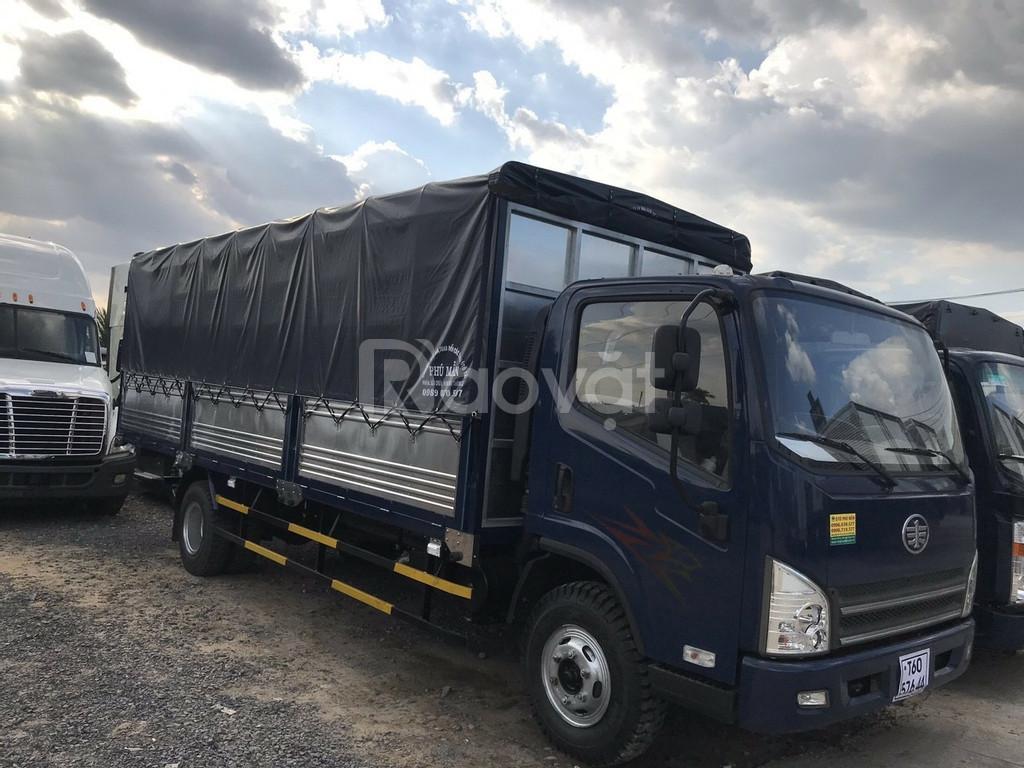 Giá xe tải faw 8 tấn ga cơ động cơ hyundai nhập- Hỗ trợ trả góp
